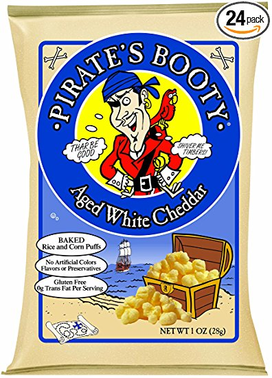 Pirate's Booty Aged White Cheddar 1/2 oz