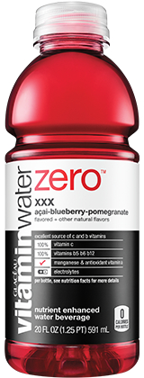 Vitamin Water Zero Acai Blueberry Pomegranate 20oz Bottle